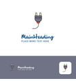 creative plough logo design flat color logo place vector image