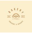 croissant and desserts logo bakery vintage logo vector image