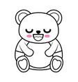 cute bear kawaii cartoon vector image vector image