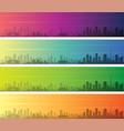 dubai multiple color gradient skyline banner vector image vector image