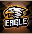 eagle head esport mascot logo vector image vector image