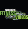 fitness text background word cloud concept vector image vector image