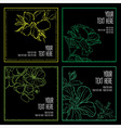 floral back big set 8 grunge vector image vector image