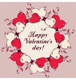 Frame of hearts for design Valentines day message vector image vector image