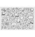 gadgets doodle set vector image vector image