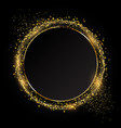 glittery circle background ideal for festive vector image vector image