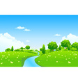 Green city landscape vector | Price: 1 Credit (USD $1)