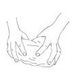 hands knead dough vector image