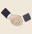 handshake men vector image