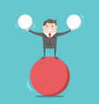 happy businessman balancing vector image vector image