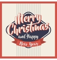 happy merry christmas card icon vector image vector image