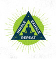 inhale exhale repeat spa yoga meditation vector image vector image