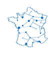 isolated map of france vector image vector image