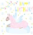 lama wishes happy birthday vector image