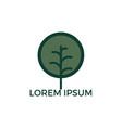 leafy tree logo design vector image vector image