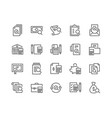 line accounting icons vector image vector image