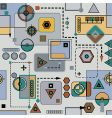 mechanical seamless pattern vector image vector image