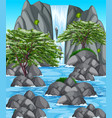 nature scene with waterfall and river vector image vector image