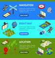 navigation methods tools signs 3d banner vector image vector image