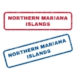 Northern Mariana Islands Rubber Stamps vector image vector image
