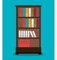 office bookcase isolated icon design vector image vector image