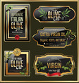 olive gold and black banner collection vector image