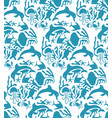 otomi style marine seamless pattern vector image vector image