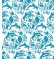 otomi style marine seamless pattern vector image