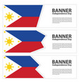 philippines flag banners collection independence vector image