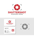 photography logo template with business card vector image
