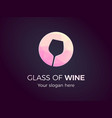 pink glass wine icon vector image