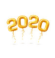realistic 2020 golden air balloons new year vector image vector image