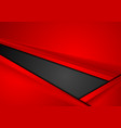 red and black tech corporate contrast background vector image vector image