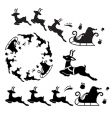 Santa sleigh ornament vector image vector image