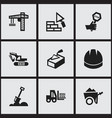 set of 9 editable structure icons includes vector image vector image