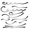set of hand drawn vector image vector image