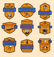 set space camp label templates design element vector image vector image