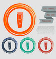 shaver hairclipper icon on the red blue green vector image vector image