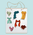 shopping bag gift bag with the image of vector image vector image
