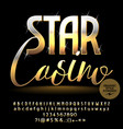 sparkling banner star casino vector image