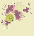 spring flowers corner decoration vector image vector image