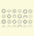 sunburst set vintage burst radial emblem sunrise vector image