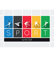 The winter sports silhouettes vector image vector image