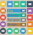 ticket icon sign Set of twenty colored flat round vector image vector image