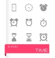 time icons set vector image vector image