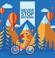 triathlon track never stop vector image vector image