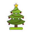 white background with decorated christmas tree vector image vector image