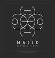 white iconic symbol of dark magic vector image vector image