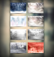 Winter Backgrounds Set vector image vector image