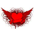 heart and wings and patterns vector image
